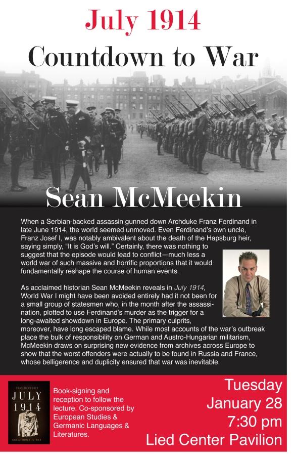 Historian Sean McMeekin to visit KU campus on January 28, 2014.